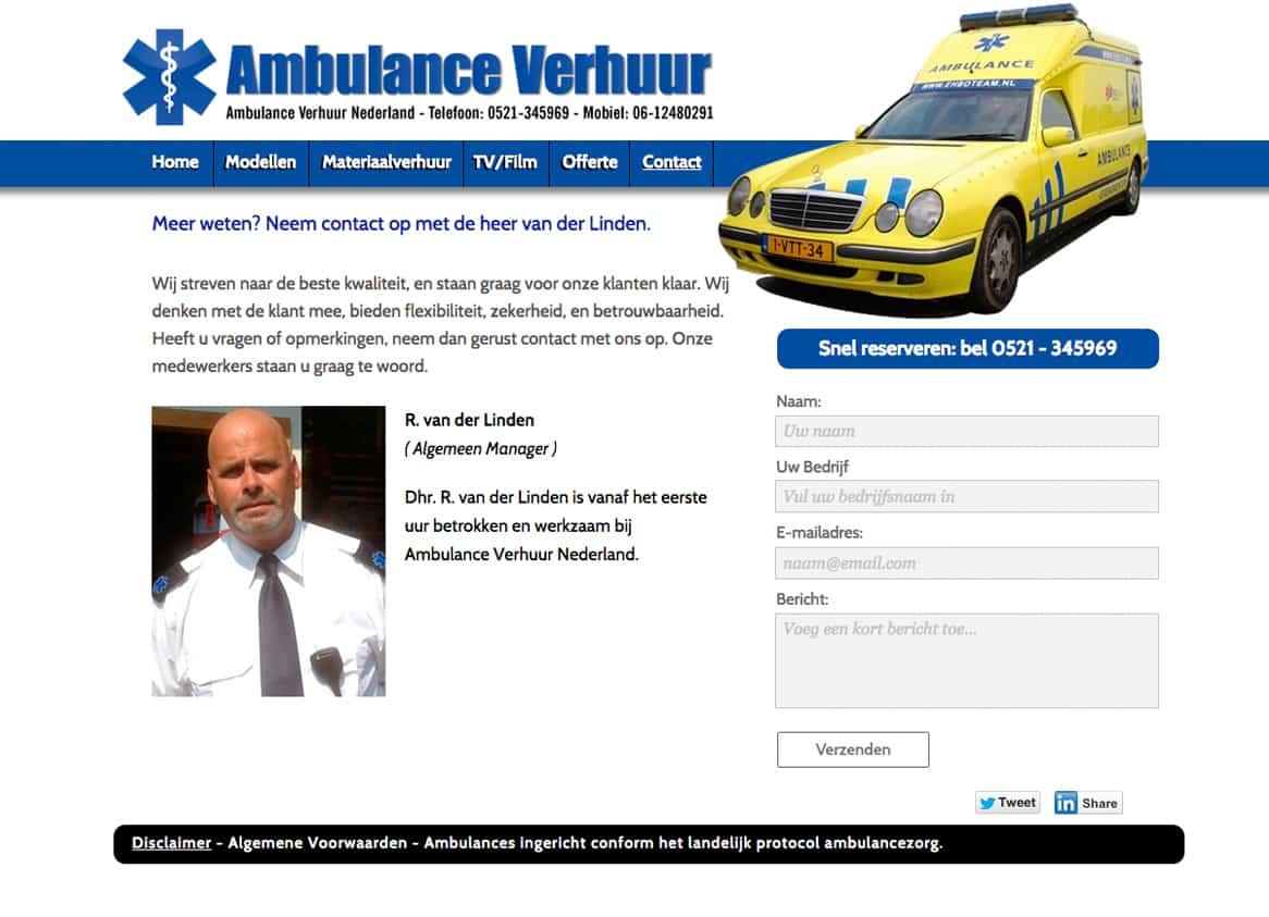 contactpagina-ambulanceverhuur