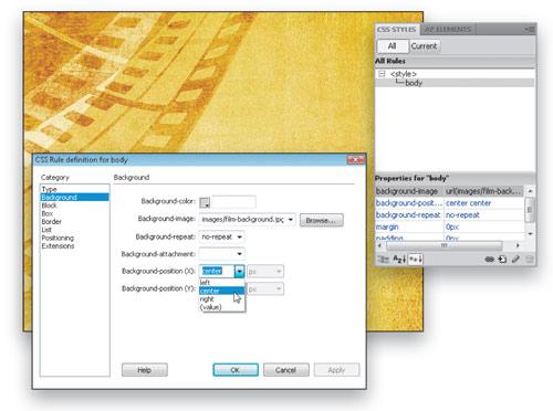Add  Depth and Dimension in Dreamweaver CS4 image 2