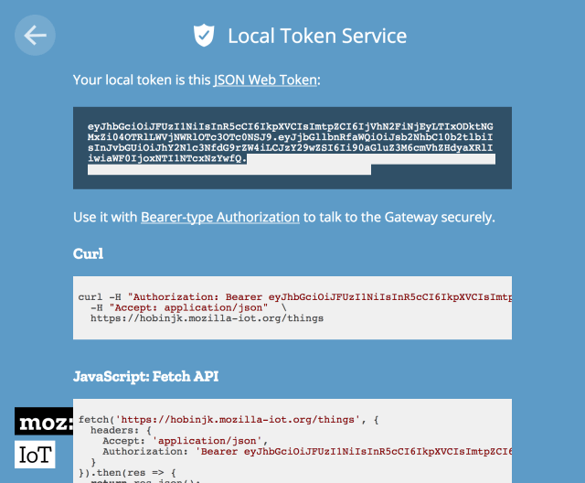 The Nearby Token Service