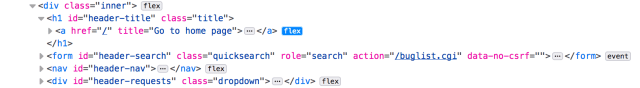Flex badges within the markup view