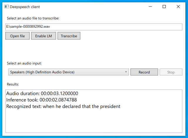 This image shows a screenshot of the WPF example.