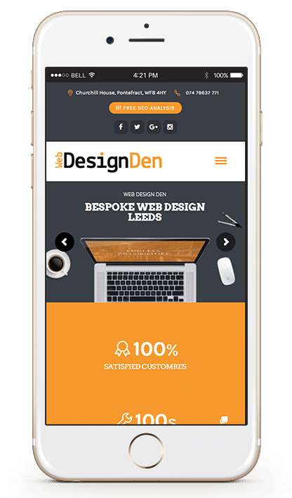 Web Design Leeds Mobile Preview