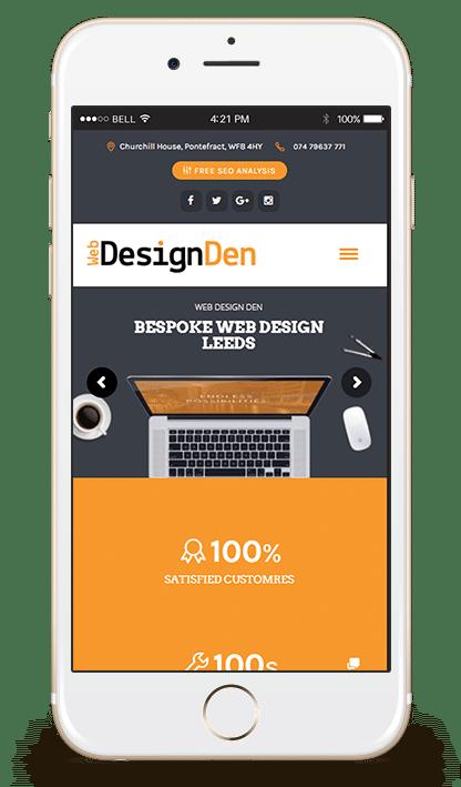 Web Design Leeds Mobile Preview