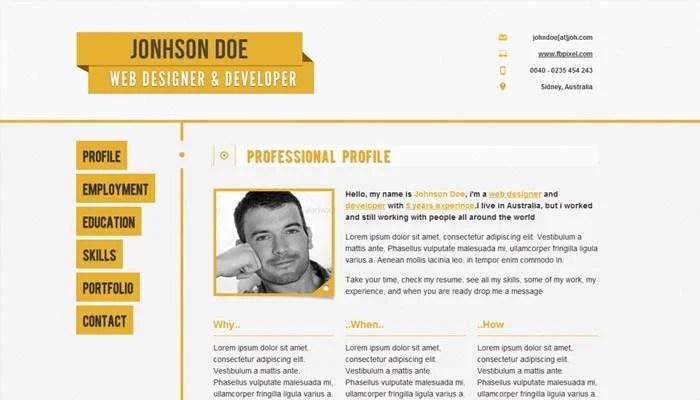 web resume responsive resume cv ceevee free responsive resume