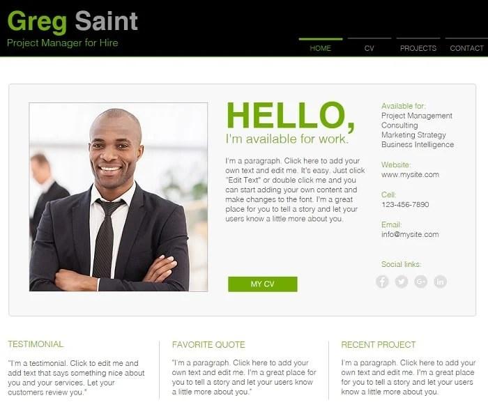Online Resume Website Free. create a how curriculum vitae ...