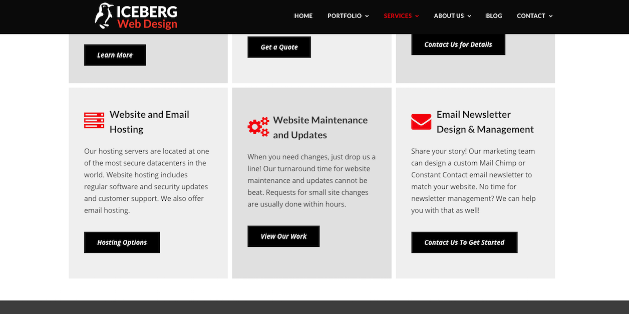 Iceberg Email Design