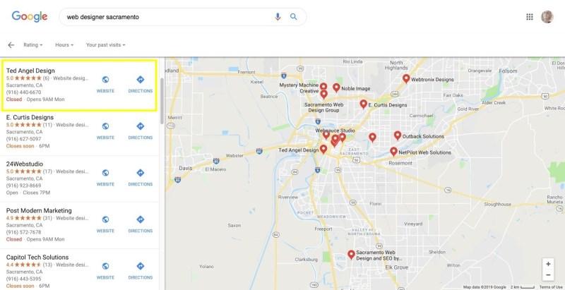 Web Designer Sacramento Search