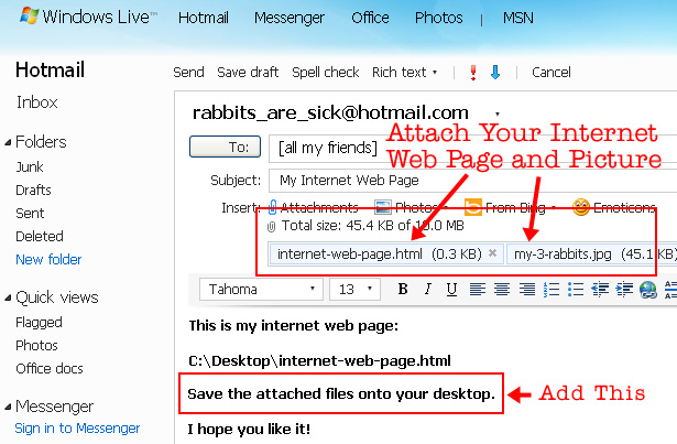 Internet Immutable Info Page Attachments