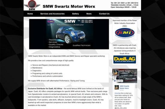 car workshop website design