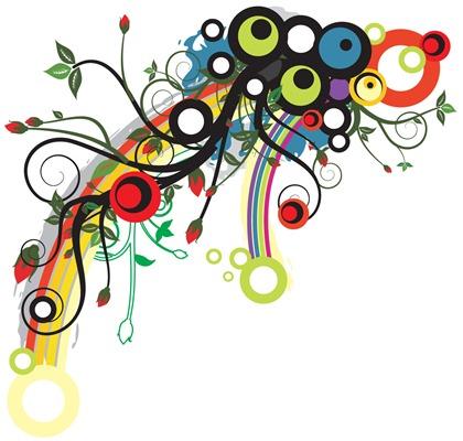 flower color trend pattern vector illustration free vector graphics
