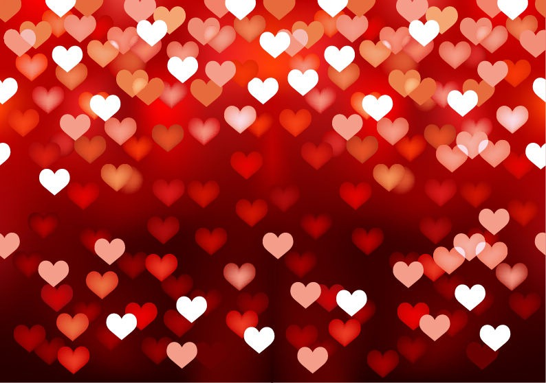 Abstract Love Heart Background Free Vector Graphics