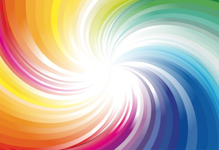 abstract rainbow colors wave background vector illustration free