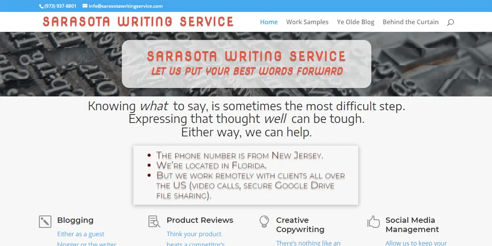Sarasota Writing Service