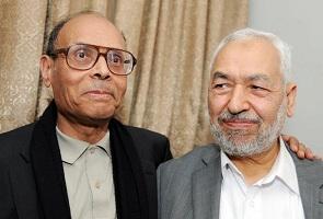Marzouki et Ghannouchi - photo archive