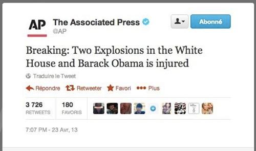 Faux tweet AP