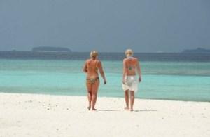 Touristes plages