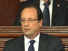 Francois Hollande, ANC, Tunis, 05-07-13 (photo France 24)