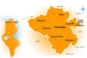 Manouba, carte