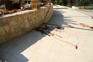 Le sang d'une des victimes de l'attentat de Sousse   Photo : Khaled Nasraoui