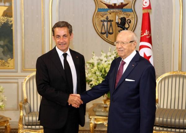 Nicolas Sarkozy et Béji Caid Essebsi | Photo : Présidence TN