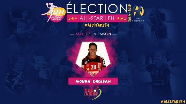 Mouna Chebbah, MVP de la saison en France | Photo : LFH
