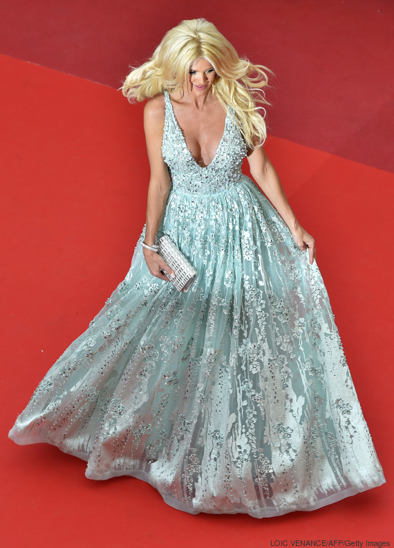 "Swedish model and actress Victoria Silvstedt poses on May 13, 2016 as she arrives for the screening of the film ""Ma Loute (Slack Bay)"" at the 69th Cannes Film Festival in Cannes, southern France. / AFP / LOIC VENANCE (Photo credit should read LOIC VENANCE/AFP/Getty Images)"