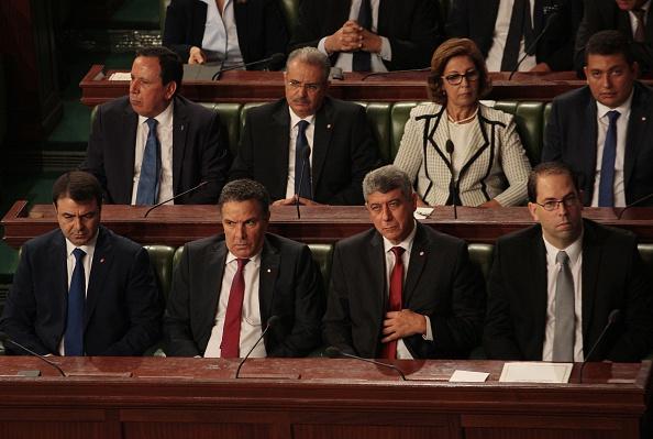 Abdeljalil Ben Salem (Deuxième en haut, en partant de la gauche) (Photo : STRINGER/AFP/Getty Images)
