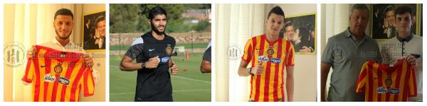 Les nouvelles recrues de l'EST (Anice Badri, Ferjani Sassi, Mohamed Zaabia, Aymen Ben Mohamed)
