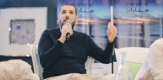 Nabil Ayouch partipant à un panel - Festival Manarat.