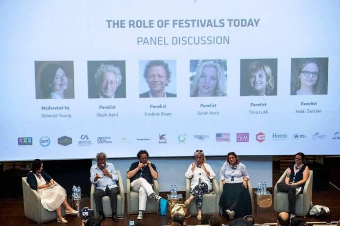 M.Nejib Ayed participant au panel « le rôle des festivals aujourd'hui ».