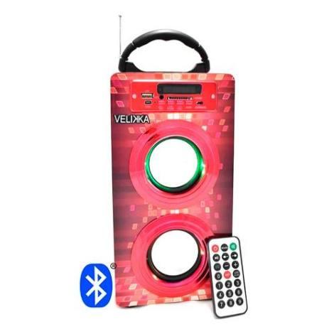 Bocina Portatil Bluetooth Sd Usb Aux Led 2026bt Recargable