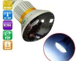Camara Ip Hd Oculta Foco Cctv Megapixel Wifi Leds Invisibles