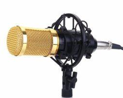 Micrófono Condensador Bm800 + Kit De Montura Y Cable D Audio