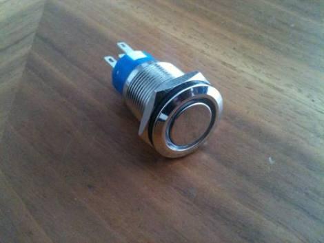 1 Botón Pulsador Momentáneo Arillo Luminoso 19mm (fijación)