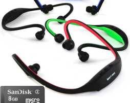 Diadema Reproductor Mp3 Sport Incluye Micro Sd 8gb Radio Fm