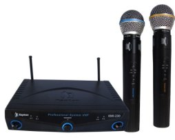 Micrófonos Inalambricos Dobles Kapton Kmi-230. Gran Alcance