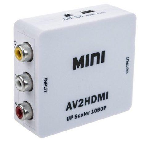 Mini Adaptador Convertidor Señal Rca – Hdmi 1080p 720p Tv