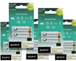 Pilas Recargables Sony Bateria Cycleenergy 6 Pzas  Doble A