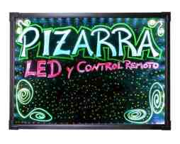 Pizarrón Led Negro Rgb Luminoso Negocio Decorativo