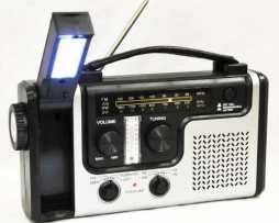 Radio Am Fm Solar Emergencia Cargador Celular Linterna Hm4