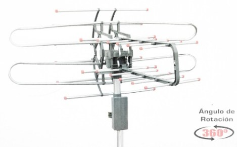 Antena Exterior Radox 14 Elementos Giratoria 360 Uhf Hd Tv en Web Electro