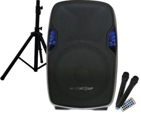 Bafle Bocina Amplificada 15   Bluetooth 2 Mic Inalambricos en Web Electro