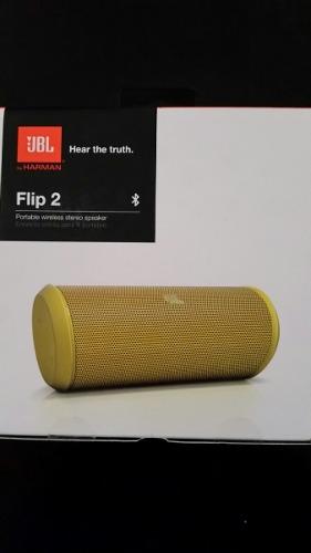 Bocina Jbl Flip 2 Amarilla Nueva Sellada Original Facturamos en Web Electro