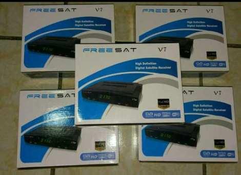 Freesat V7 Regalo Antena Wi-fi Y 1 Meses Azul