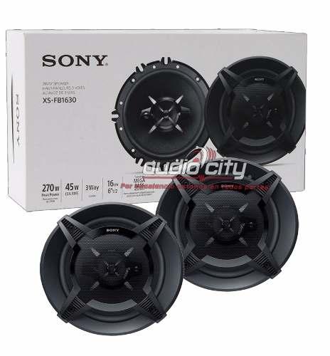 Juego De Bocinas Con Tweeter Sony 6.5' Xs-fb1630 270w 3 Vías