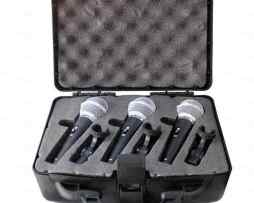 Kit 3 Microfonos Clips Y Cables 8m