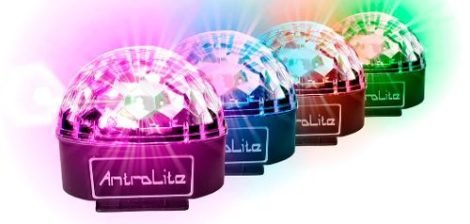 Kit 4 Esferas Led Crystal Magic Ball Rgbwap Antrolite en Web Electro