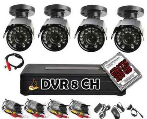 Kit Cctv Circuito Cerrado Grabador 8 Con 4 Cam Y Hdd 250gb en Web Electro