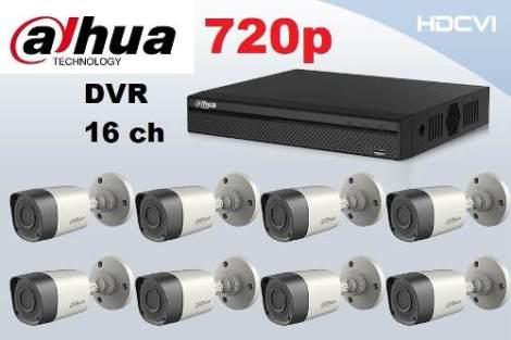 Kit Dahua 8 Camaras Dvr 16ch 720p Alta Resolucion Hdcvi P2p en Web Electro