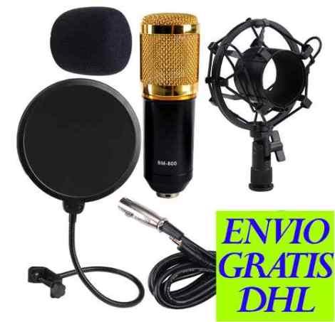 Kit Microfono Condensador Bm800 + Filtro Anti-pop en Web Electro